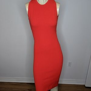 Theory - red bodycon dress